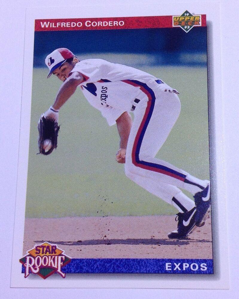 1992 upper deck wilfredo cordero star rookie expos 16