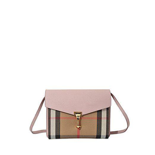 fed12e57a82e Burberry Women s Small Leather and House Check Crossbody Bag Nude Blush   Affiliate