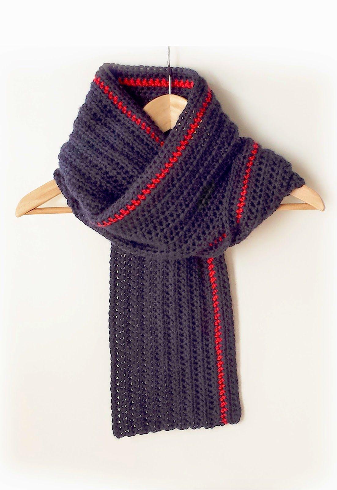 Bufanda unisex ganchillo con patron | Crochet (To do list ...