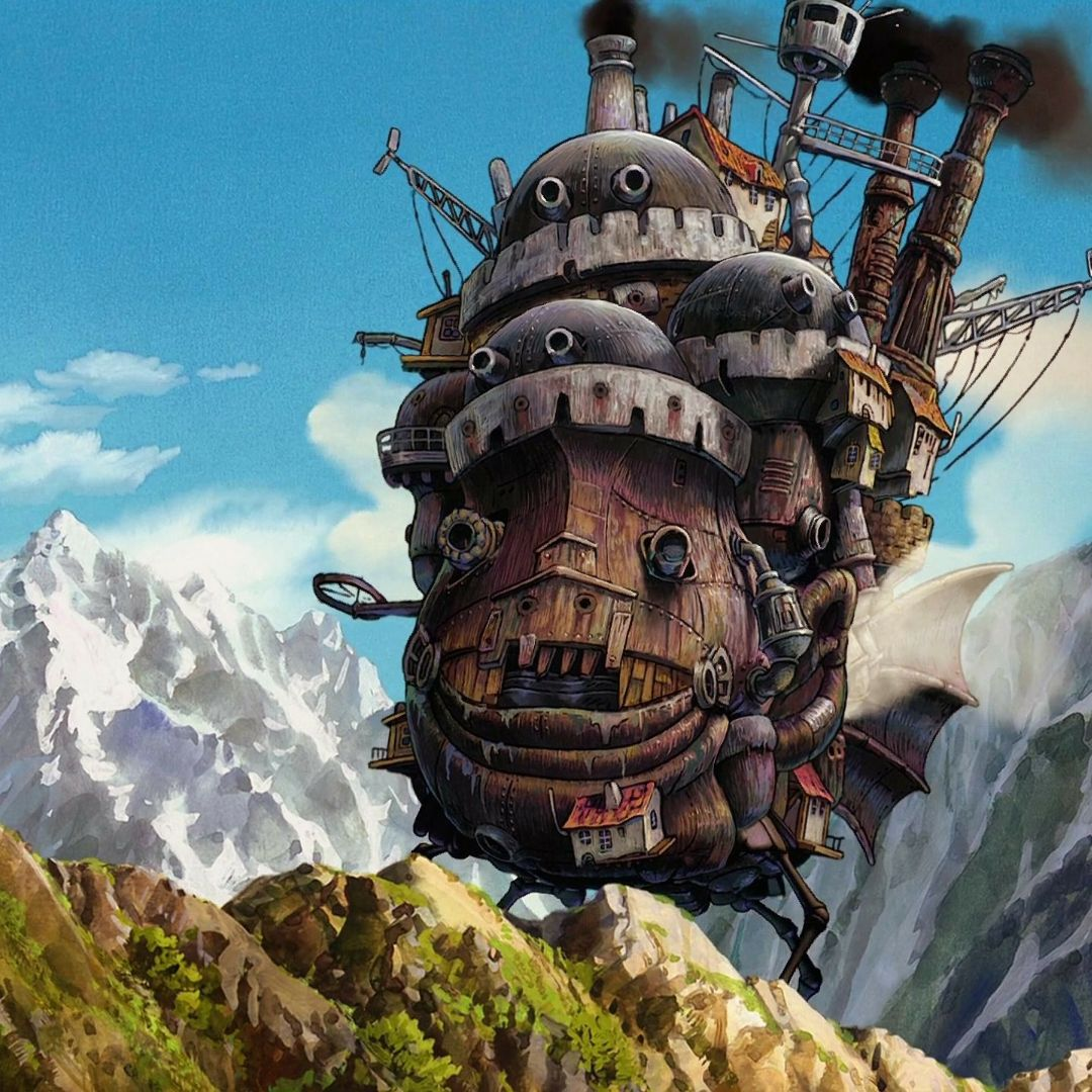 Download Howl S Moving Castle 2560 X 1440 Live Wallpaper Engine Free Fascinating Live Wallpaper For Pc From Ghibli Artwork Studio Ghibli Art Studio Ghibli