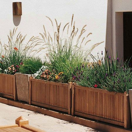 between the house and driveway raised planters keep the dirt off the driveway but still add. Black Bedroom Furniture Sets. Home Design Ideas