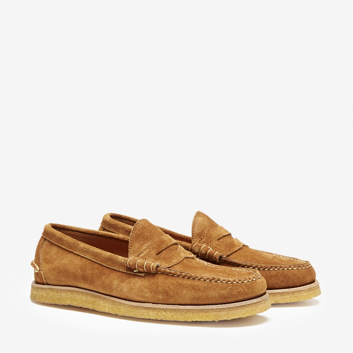 d312279f52a Oak Street Bootmakers x Bonobos Beefroll Penny Loafer in Peanut Suede with Crepe  Sole   Made in USA. (Casual Perfection!)