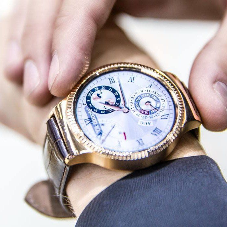 huawei smartwatch gold. huawei smartwatch rose gold stainless steel with brown leather strap smartwatch m
