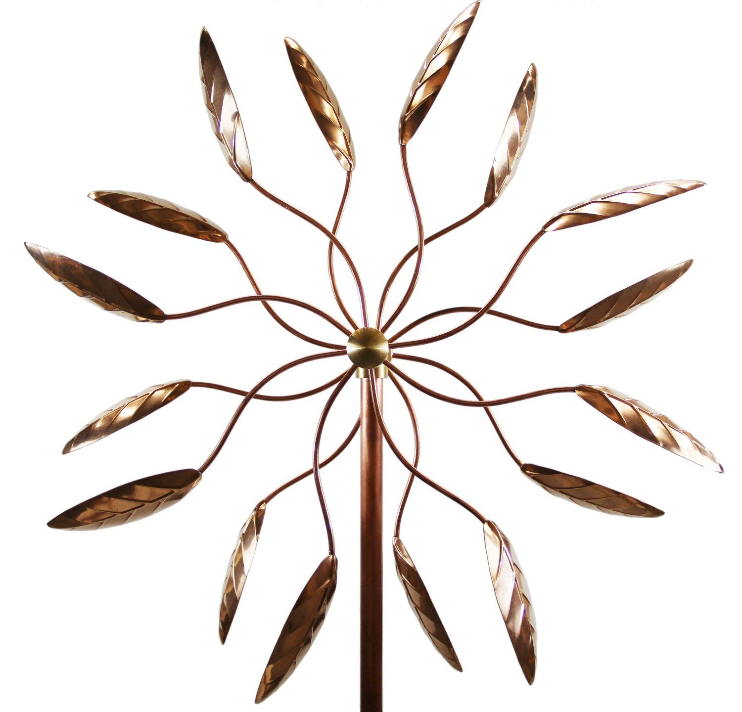 Wonderful Amazon.com: Stanwood Wind Sculpture Kinetic Copper Wind Sculpture, Dual  Spinner Spinning Ficus
