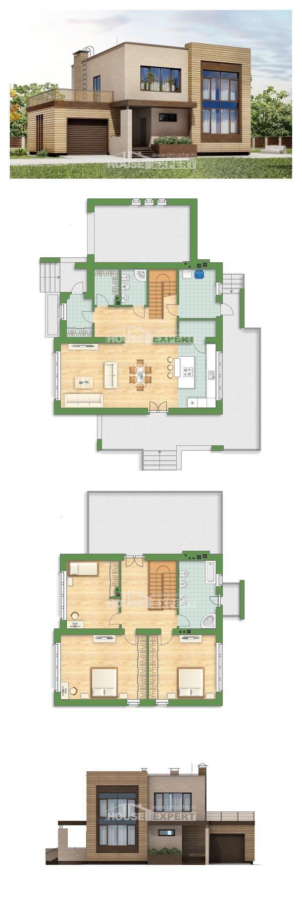 проект дома 220 003 л House Expert Cabin House Plans House Layout Plans House Exterior