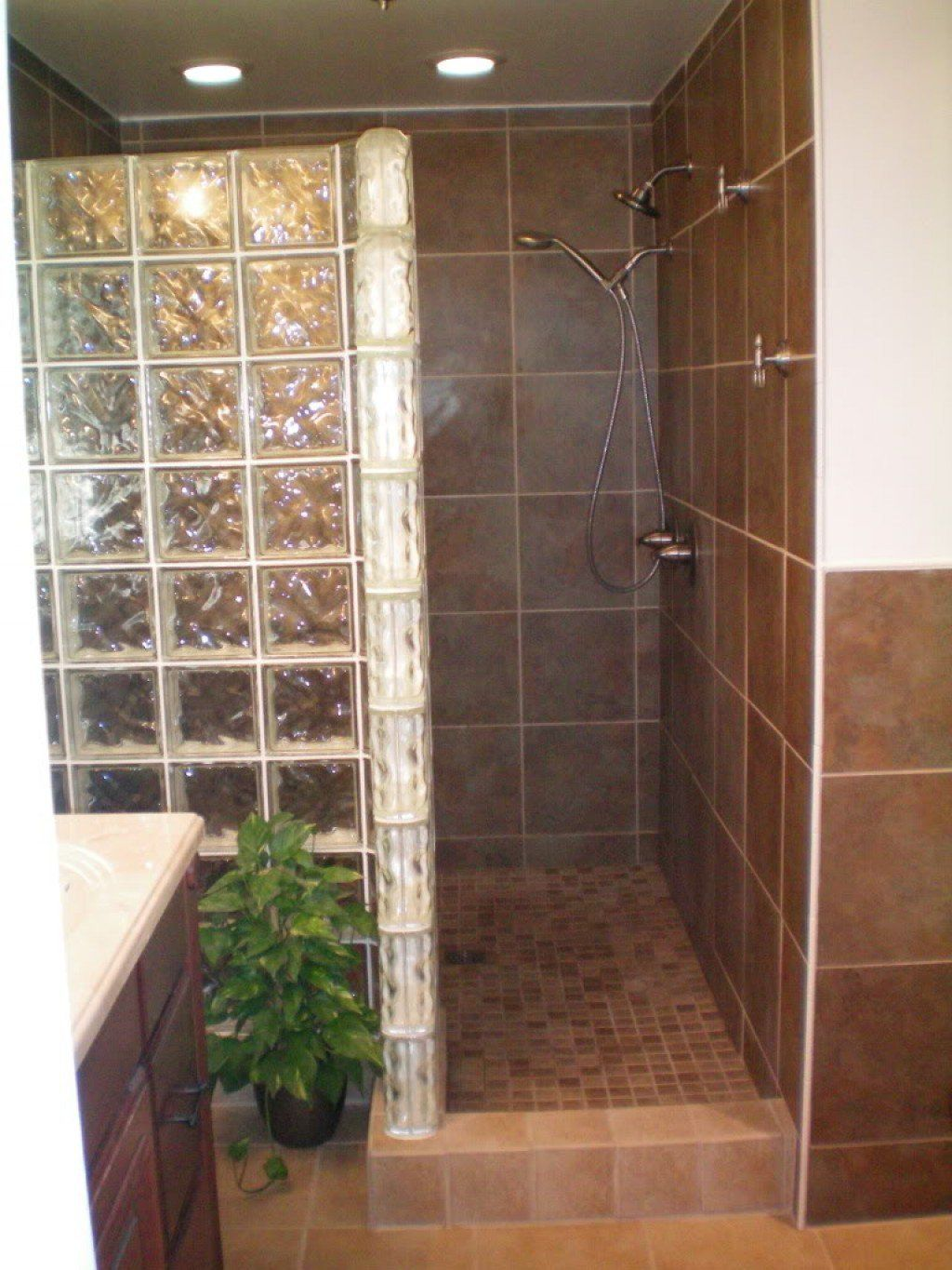 Building a Walk In Shower Enclosure With Glass Block | Shower ...
