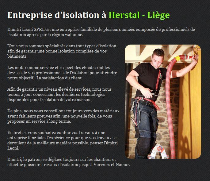 Dimitri Leoni SPRL - entreprise dédiée à lu0027isolation située à