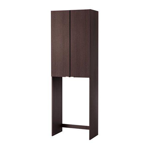 LILLÅNGEN Waschmaschinenschrank, weiß | Möbelfüße, Schwarzbraun und Ikea