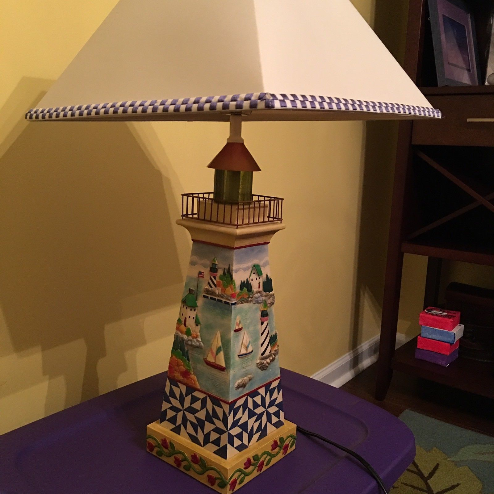 This listing is for an excellent condition 2004 jim shore this listing is for an excellent condition 2004 jim shore lighthouse lamp there are no chips or imperfections in the base the lamp shade is also in great mozeypictures Choice Image