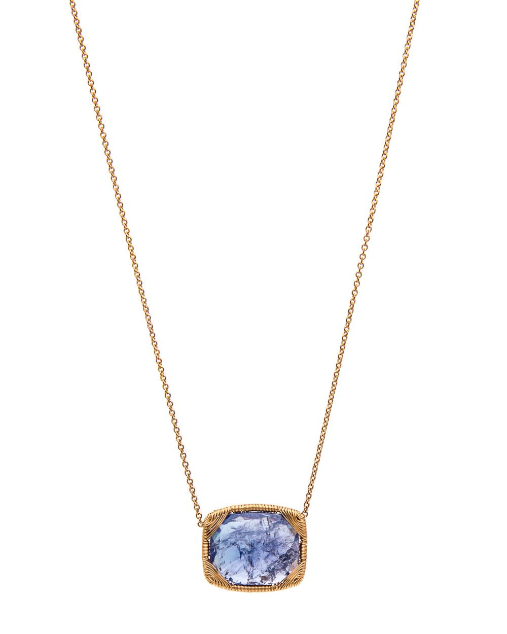Dana Kellin Fine Jewelry Tanzanite Wire Wrap Frame Pendant Necklace ...