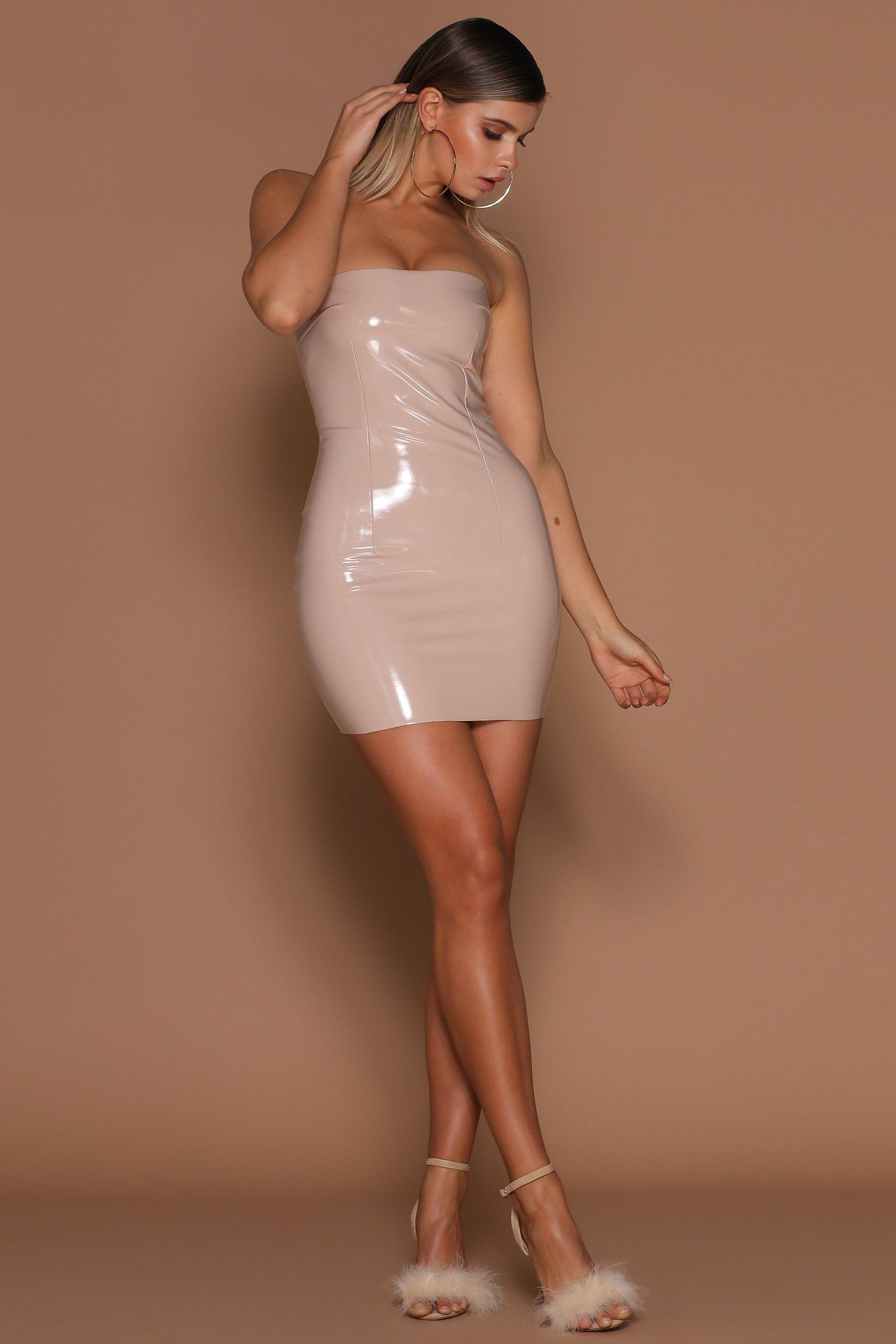 White latex tight