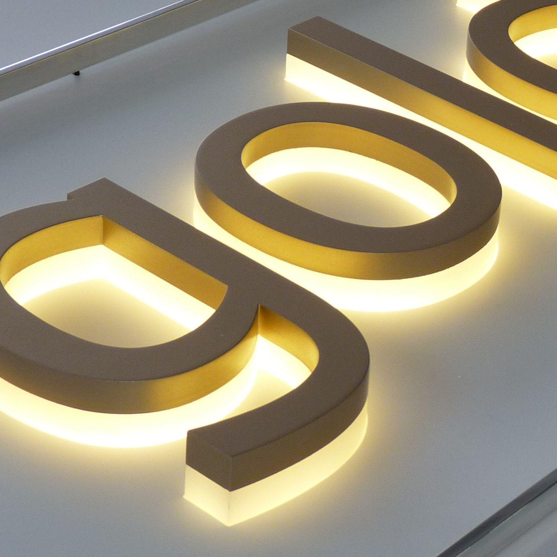 Custom Backlit Signs Illuminazione Led Retro