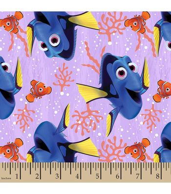 Finding Dory Cotton Fabric-Dory