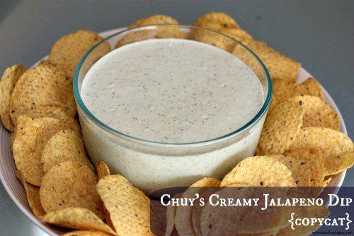 Chuy S Creamy Jalapeno Copycat With Mayonnaise Buttermilk Sour Cream Jalapeno Ch Chuys Creamy Jalapeno Dip Recipe Creamy Jalapeno Dip Jalapeno Dip Recipes