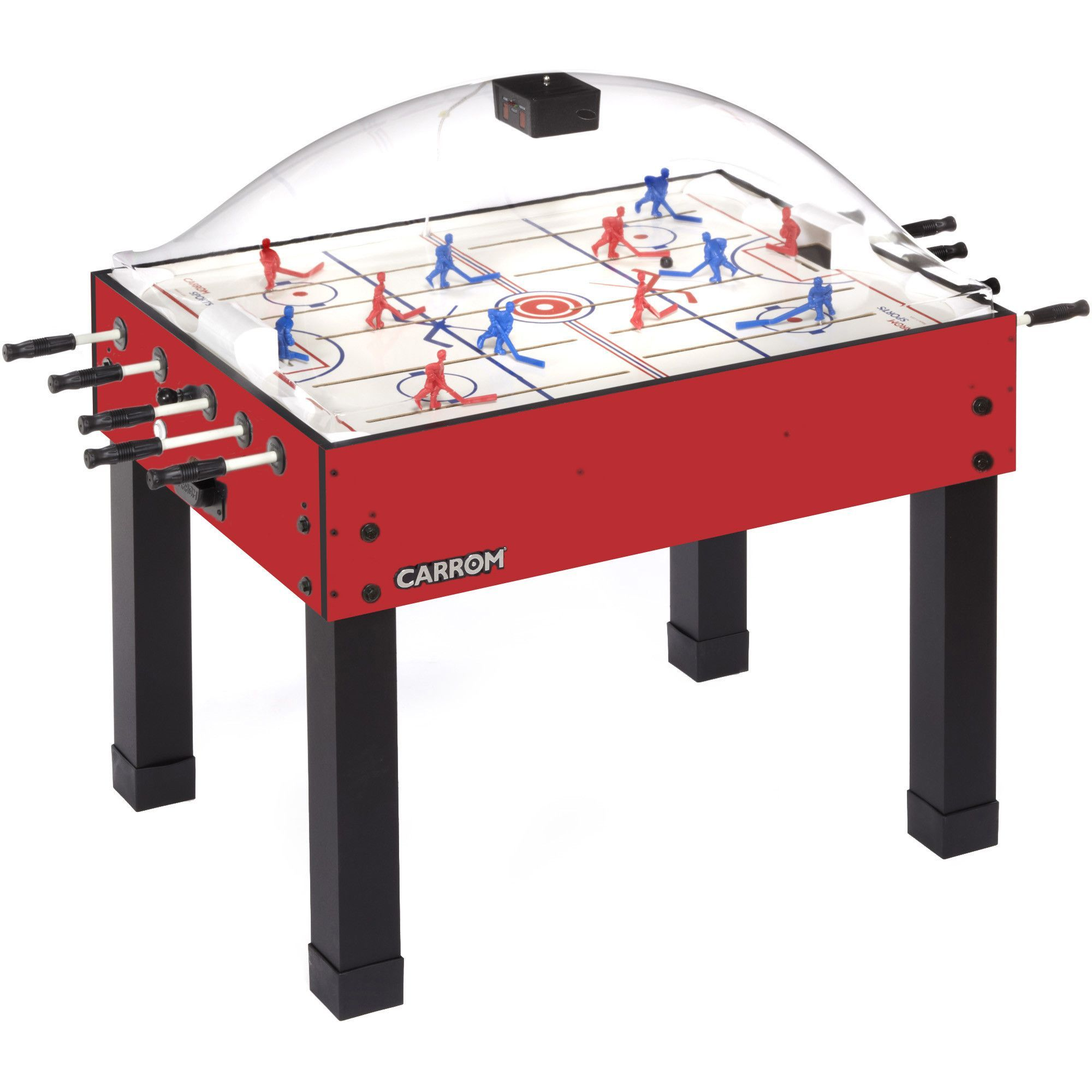 58 Two Player Rod Stick Hockey With Digital Scoreboard Air Hockey Table Hockey Foosball Table