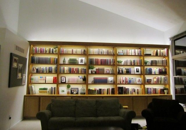 a backlit bookcase to show off the true treasures in your home rh pinterest com