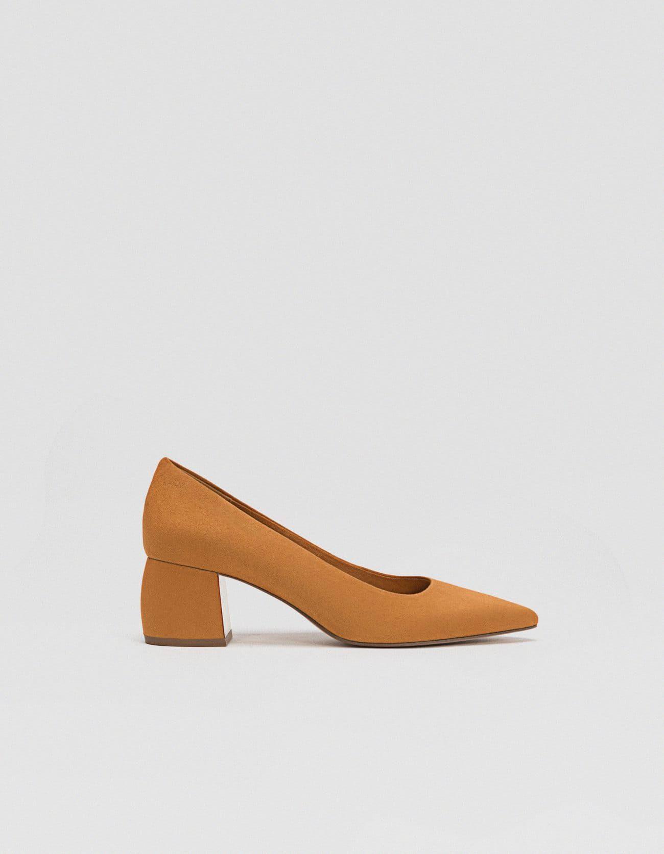 Stradivarius Todos Medio Tacón Zapato Marrón Mujer Shoes De qwt5Y