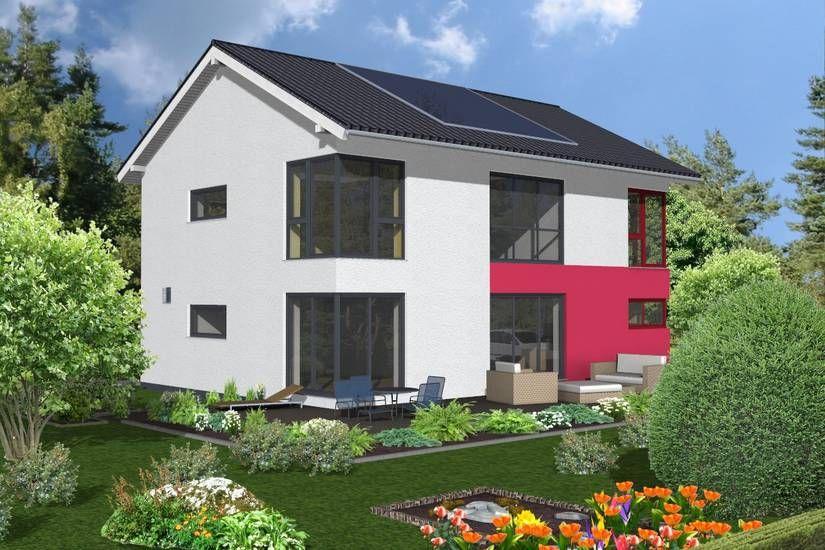 einfamilienhaus 176qm 2 geschossig 27 grad dachneigung hausbeispiele von cal classic haus. Black Bedroom Furniture Sets. Home Design Ideas