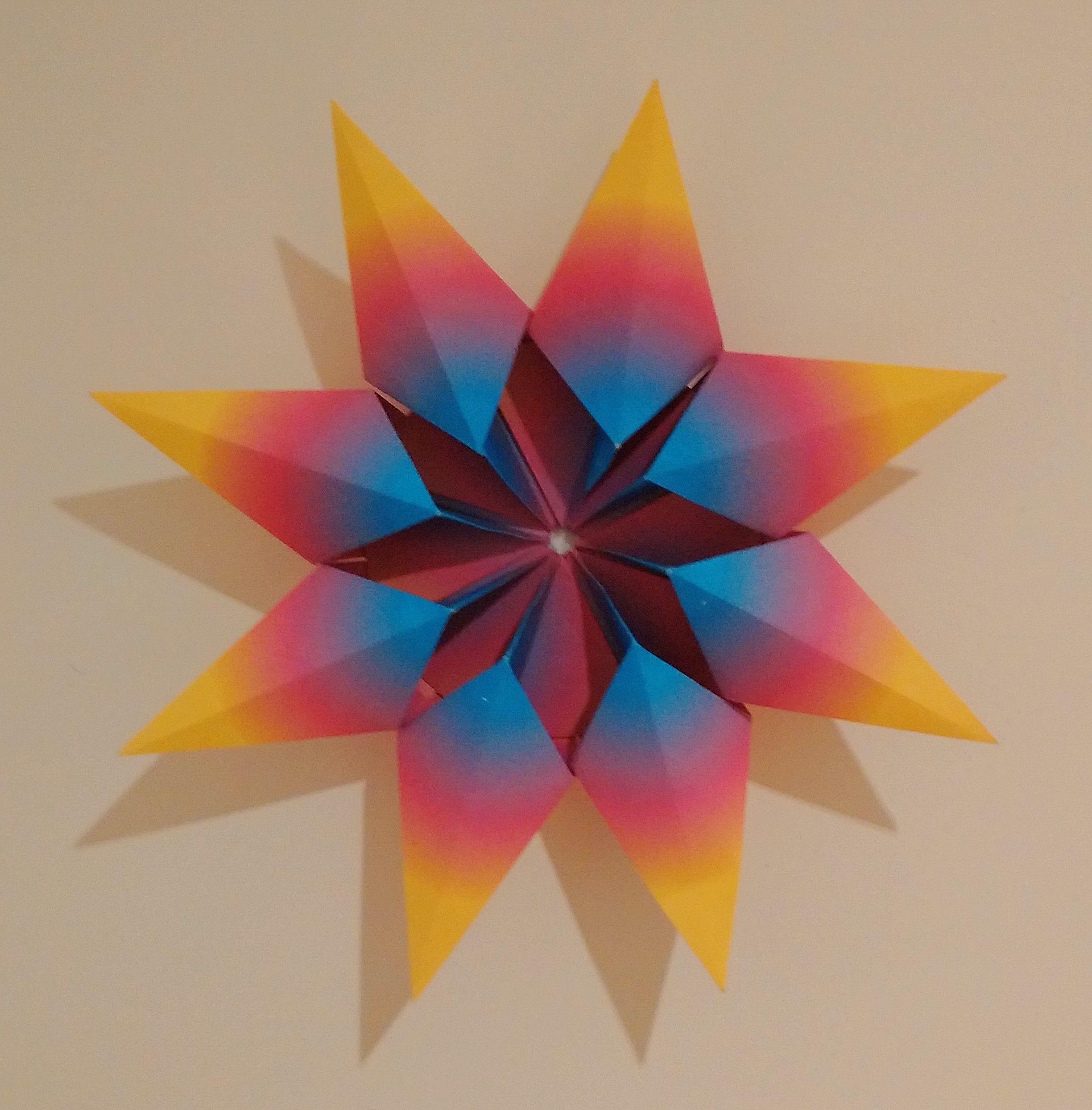 Origami Diamond Star Francesco Guarnieri Folded By Paula