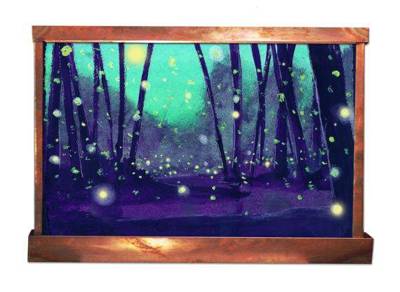 Fireflies in Summer Wall Fountain by HarveyGallery on Etsy