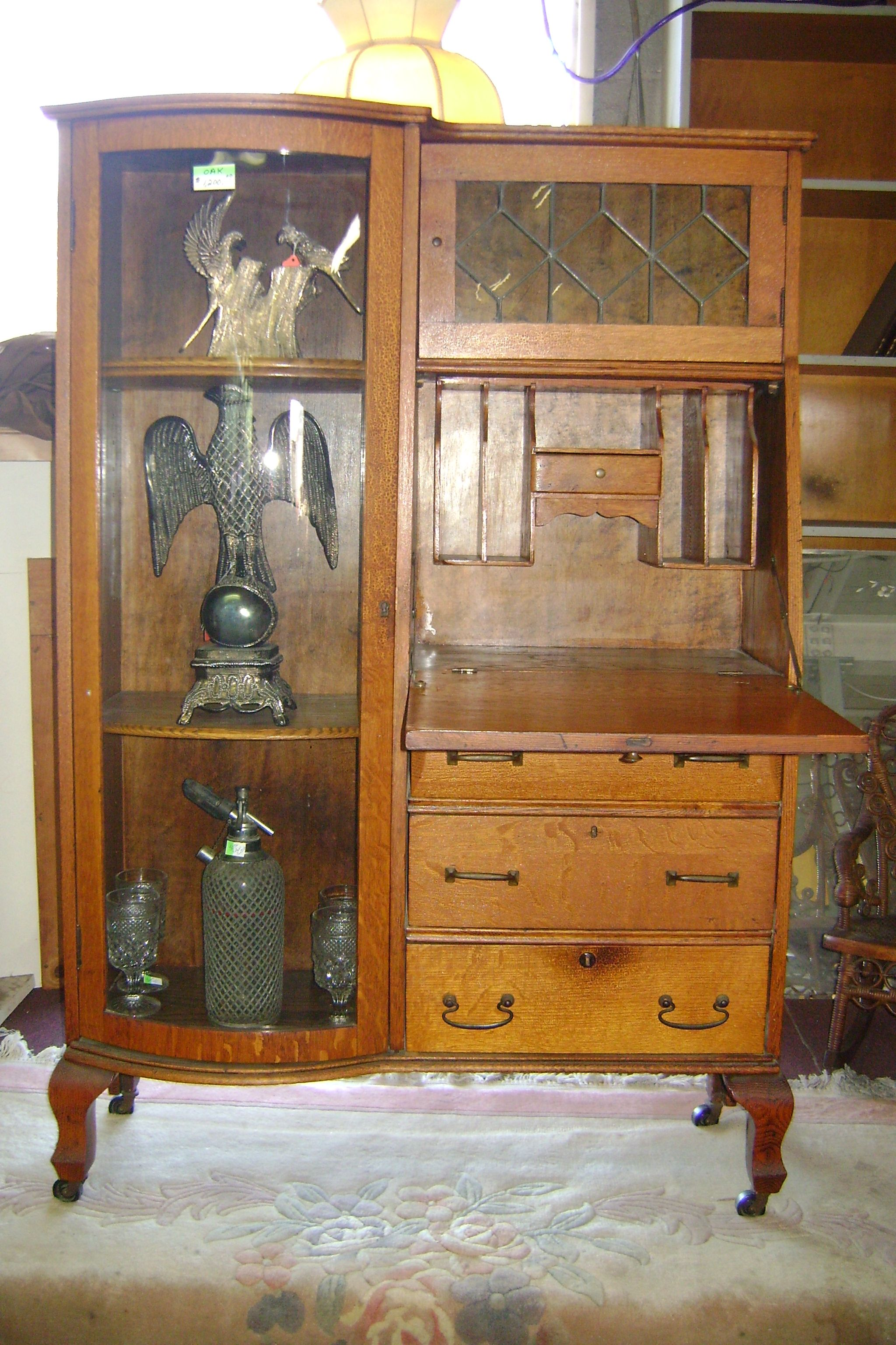 antique secretary desk side by side for sale at the barn
