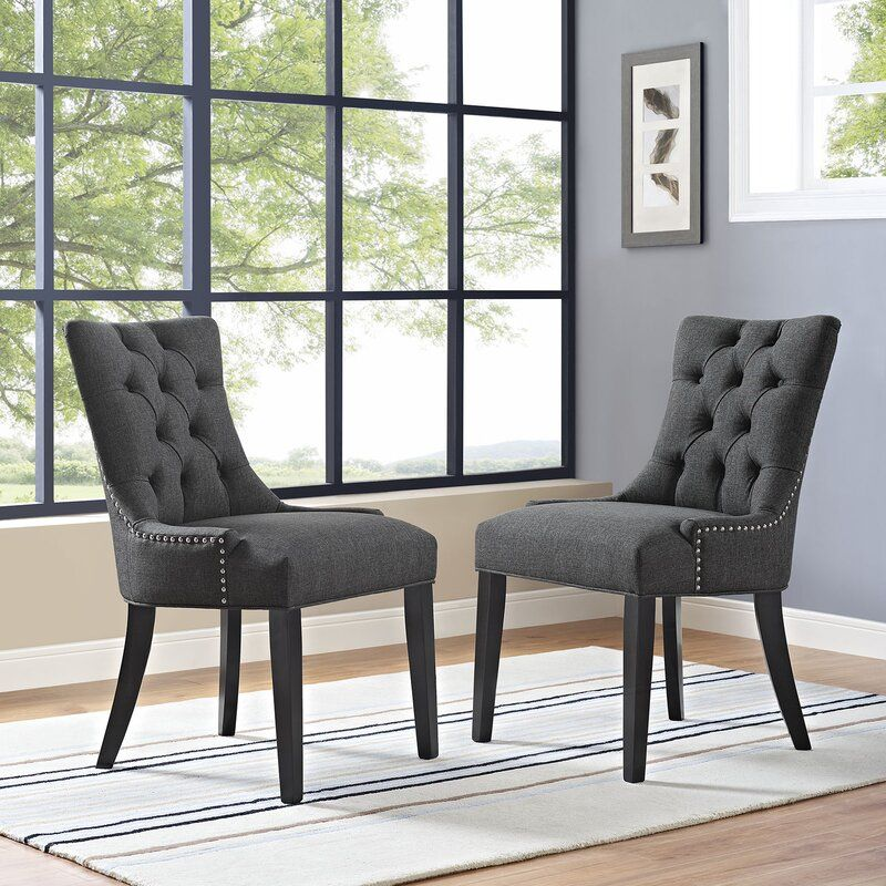 Apoloniusz tufted side chair side chairs dining fabric
