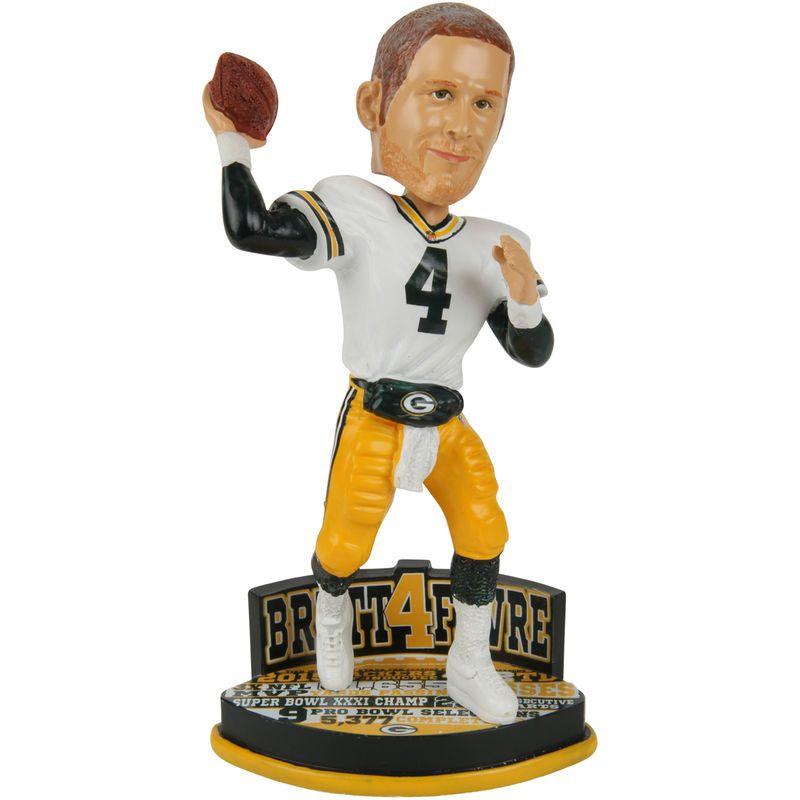53f3d6c2cbf Brett Favre Green Bay Packers Hall of Fame Bobblehead