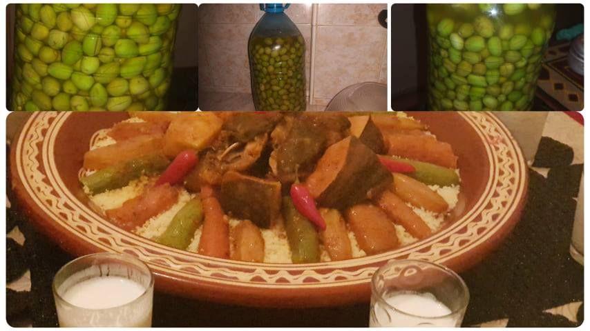 عمل الزيتون المرقد مخلل بالبيت مع والدتي تحضيرقصرية الكسكس الكسكسي بلحمة الراس والخضر Vegetables Food Asparagus