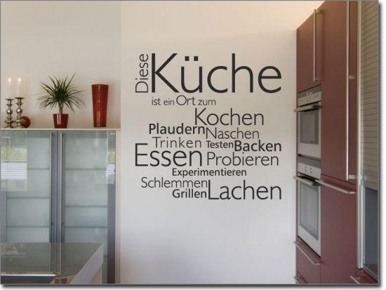Wandtattoo Diese Küche Wandworte Pinterest Wand, Hygge and - küchen wandtattoo sprüche