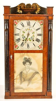 Rare Antique American Column Splat Woodworks Shelf Clock Circa 1830 Ebay Clock Vintage Clock Shelf Clock