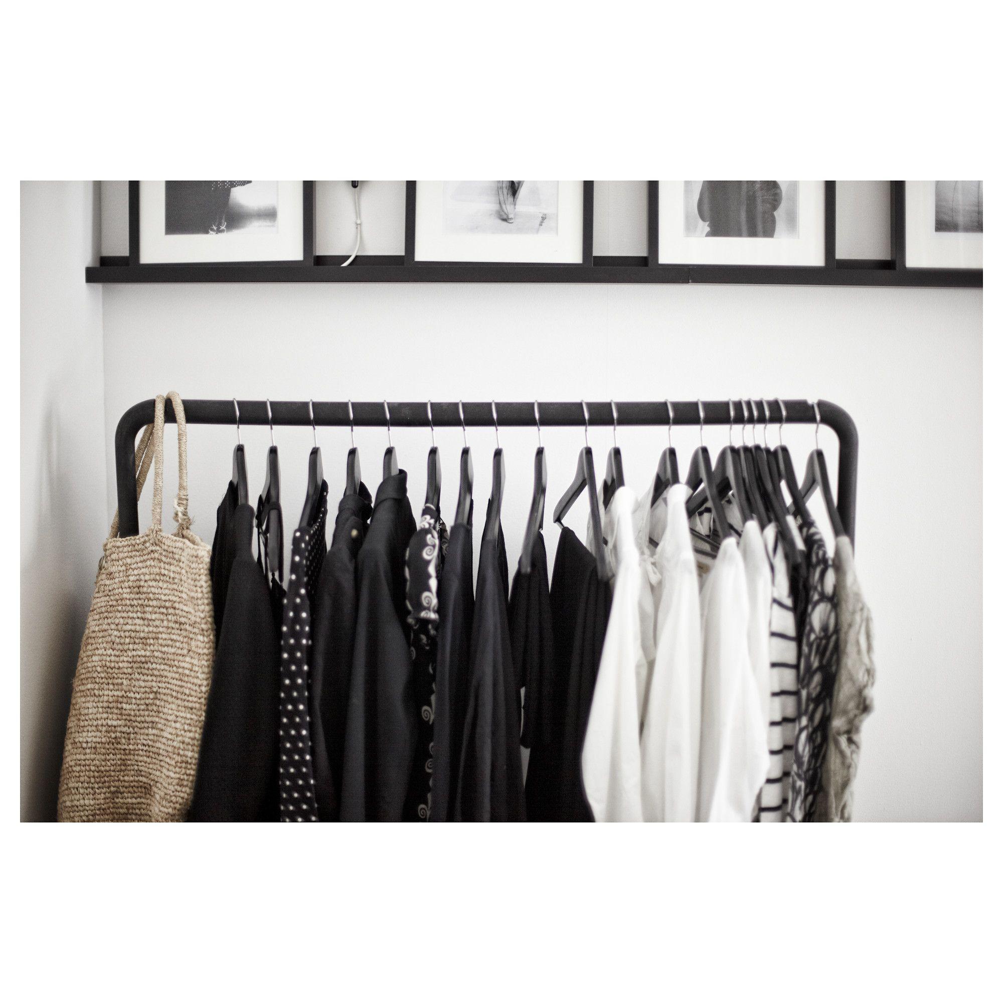 TURBO Clothes rack, indoor/outdoor, black | Be Not Fat