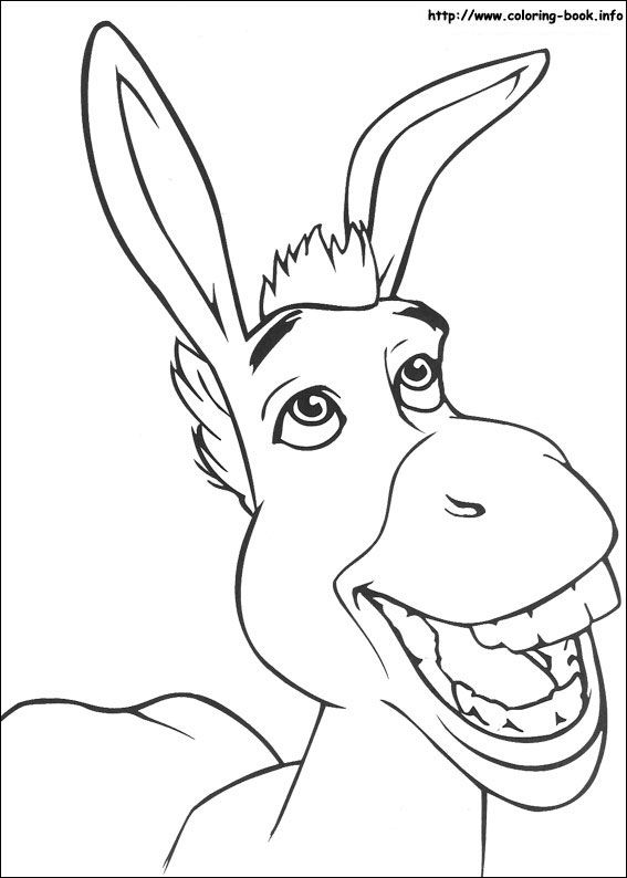 Heres a donkey you might know to colour in To meet the magical