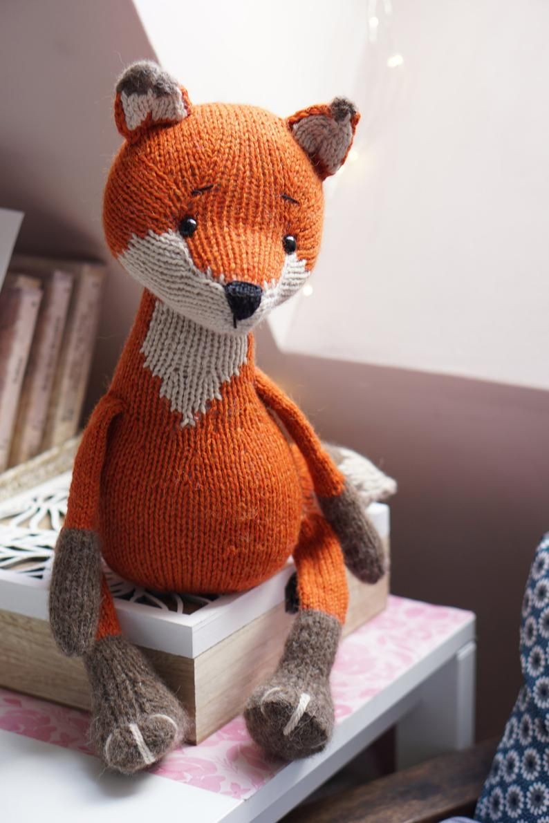 Fox Toy Knitting Printable Pattern pdf / PHOTO & VIDEO ...
