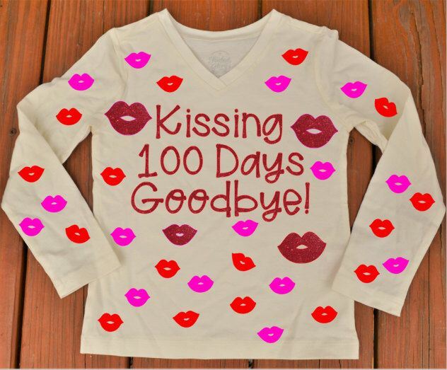 Items similar to 100 days of School Shirt, Kissing 100 Days Goodbye Shirt on Etsy