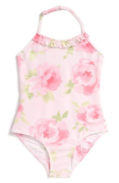 2fd91f6d8d3192 Kate Mack Floral Print One-Piece Swimsuit (Toddler Girls & Little Girls)  available at #Nordstrom