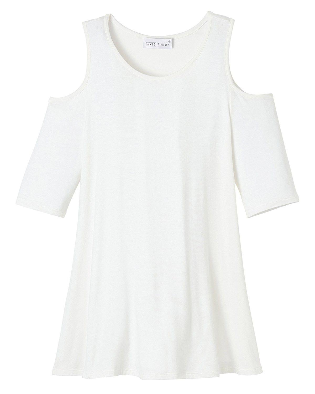 2a922babb45994 Cold Shoulder Tops For Women Open Shoulder Tunic Tops For Leggings ...