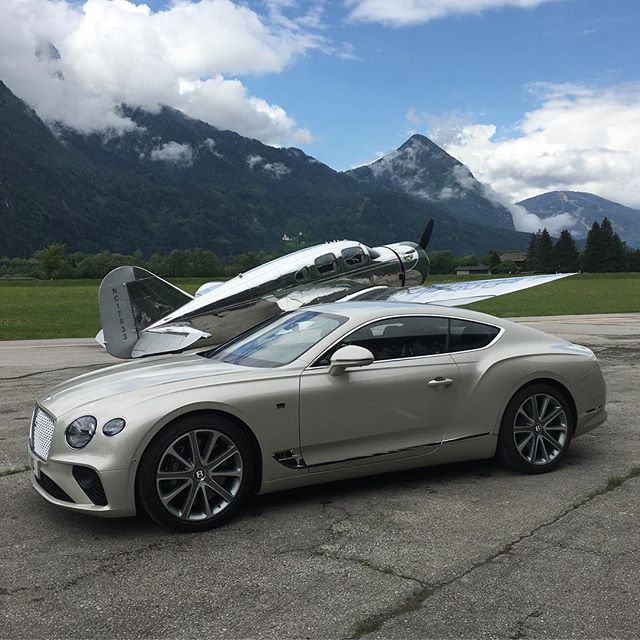 Ready For Takeoff. The New Bentley Continental GT Flying