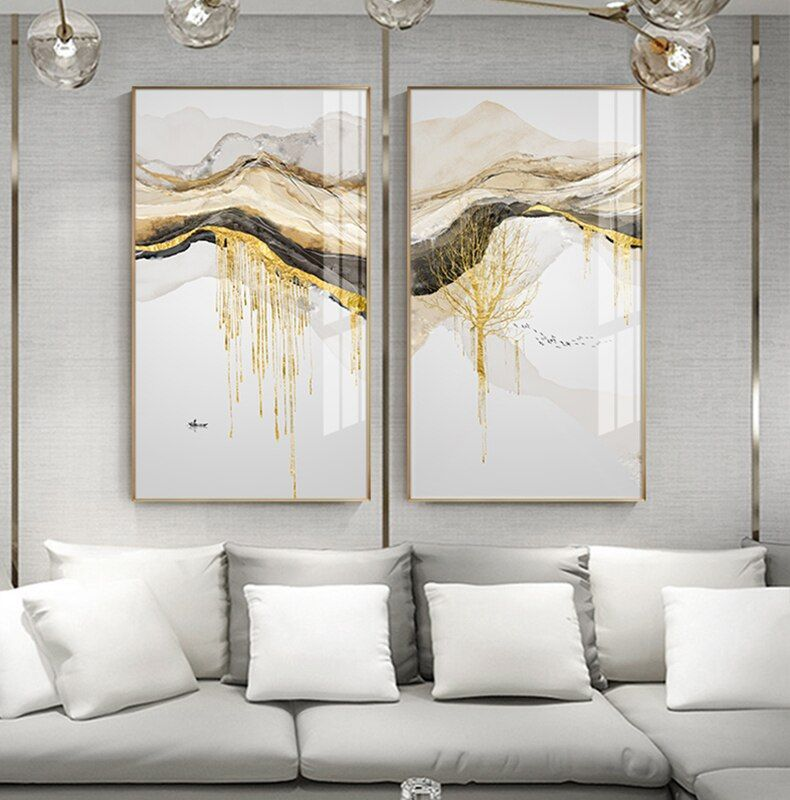Abstract Golden Sun Canvas Painting Flowing Big Paint Posters Prints Fashion Tableaux Living Room Nordic Wall Art Decor Tableaux In 2020 Landscape Wall Art Scandinavian Wall Art Art Gallery Wall