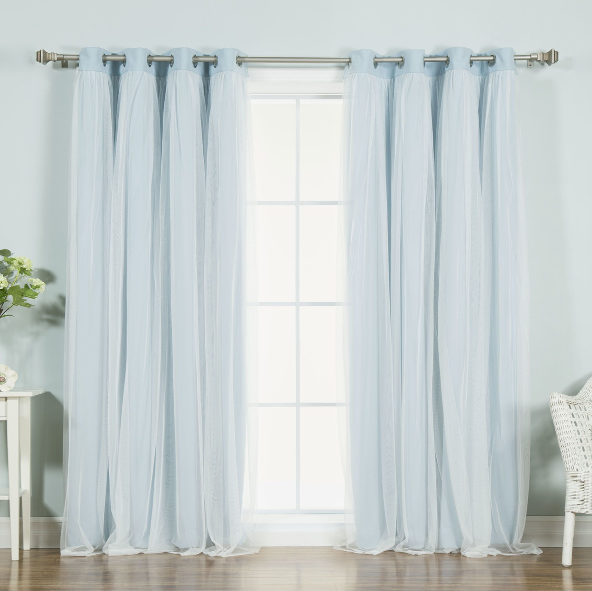Anabelle Tulle Thermal Blackout Energy Efficient Grommet Curtain