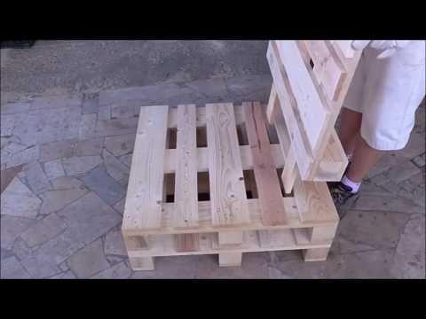 Costruire un divano con i pallet - YouTube #diypalletfurniture