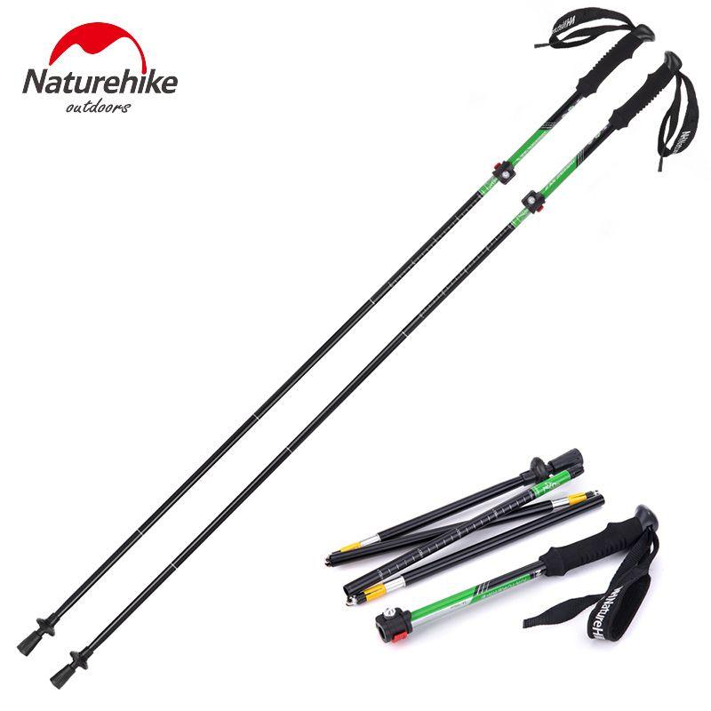 Adjustable 5-Section Hiking Stick Trekking Pole Aluminum Alloy Alpenstock