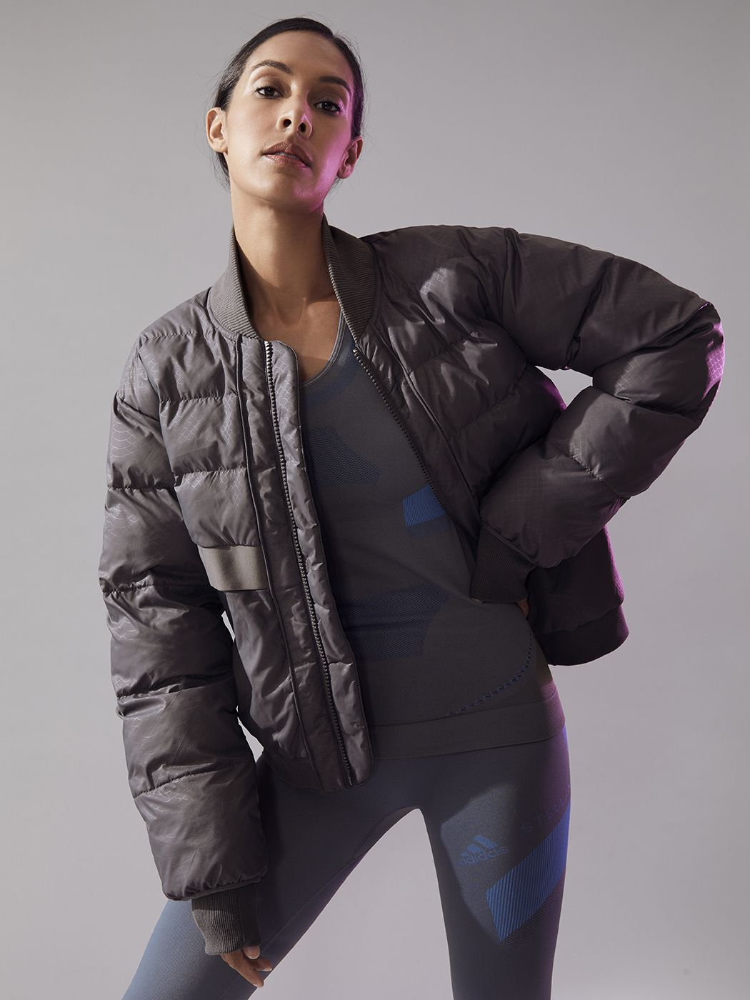 699e551ddede Essentials Short Padded Jacket in Granite by Adidas By Stella Mccartney  from Carbon38
