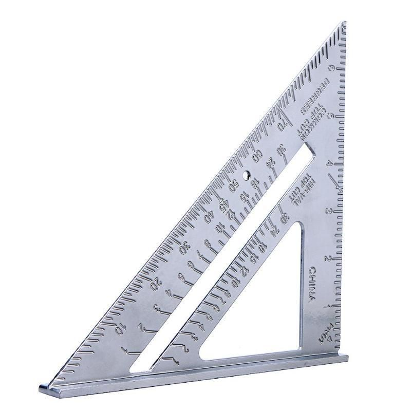 7inch Aluminum Speed Square Roofing Triangle Angle Protractor Try Square Layout Tool Us 2 99 Protractor Speed Square Triangle Angles
