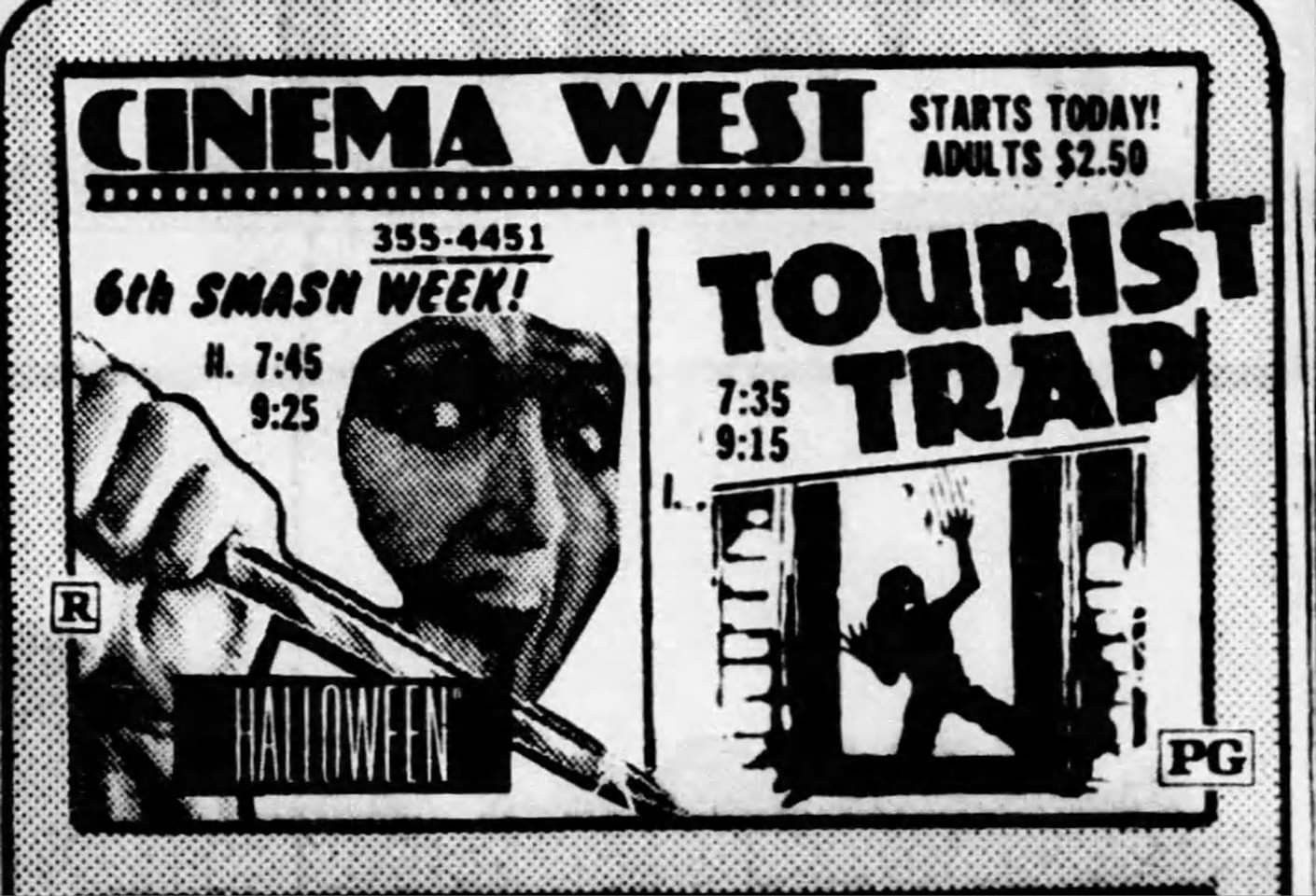 Halloween (1978) & Tourist Trap (1979) Great movies