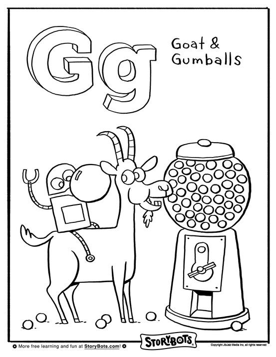 Goats And Gumballs Like Coloring For G Alphabet Coloring Pages Alphabet Coloring Abc Coloring