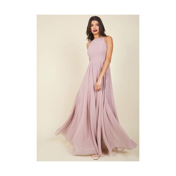 Vintage Inspired Long Halter A-line Stun Like No Other Maxi Dress (690 CNY) ❤ liked on Polyvore featuring dresses, gowns, apparel, purple, purple gown, long dresses, long maxi dresses, halter maxi dress and maxi dresses