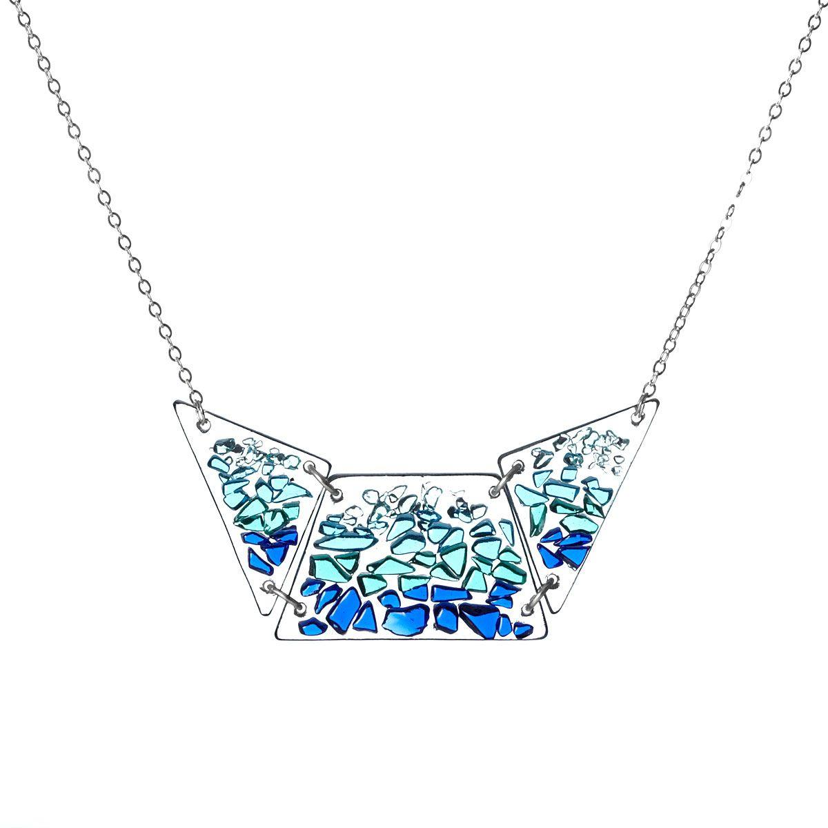 Shattered Glass Bib Necklace