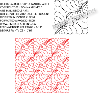 Sacred Journey #1 Pantograph by Donna Kleinke / One Song Needle Arts  DK4007PANTO