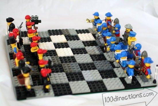 10 Diy Board Games Kids Will Love Lego Chess Lego Craft Board