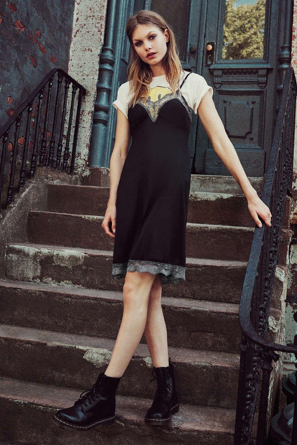 Black Vintage Slipdress
